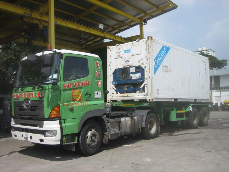 11a Import Trucking of reefer container from PSA Port to customer warehouse