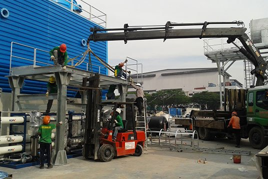 Transportation_Erection_and_Fixing_Waste_Processing_Plant